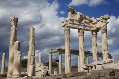Evocative columns hint at past glories