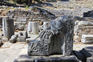 This was part of the pulpit on the church built in the 6th century