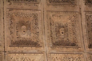 The intact Roman ceiling in the baptistry / Jupiter's temple