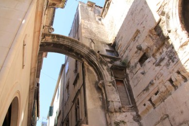 Lovely random 'bits' of Diocletian's palace can be spotted here and there