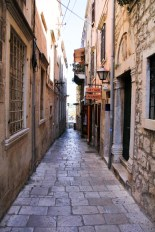 One of the straight eastern streets