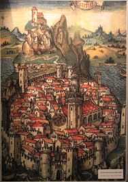 Map of Korcula from the 15th century looking much as it does today