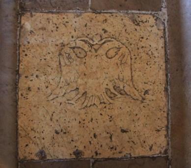 The double-headed eagle flagstone is original