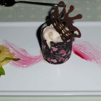 Superb ice-cream beautifully presented.