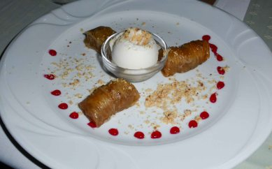 2nd dessert - our Turkish host couldn't let the meal end without Baklava!
