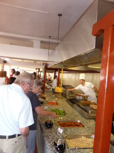 The hot food section goes on & on
