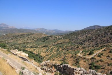 Great views from the Mycenean Acropolis