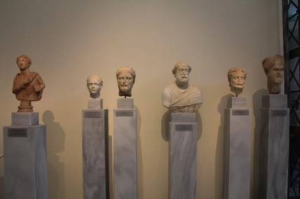 Collection of portrait busts