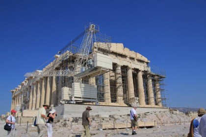 The Parthenon. Pity about the scaffolding