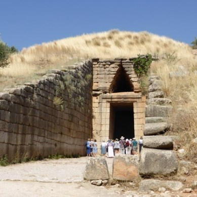 Treasure of Atreus: The entrance with people to give the sense of scale