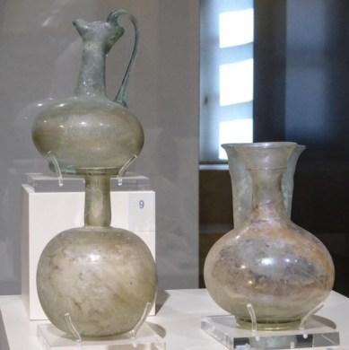 Glass vases (around 3rd-4th century BC)