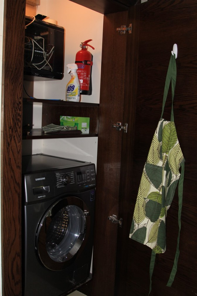 Laundry in a Cupboard