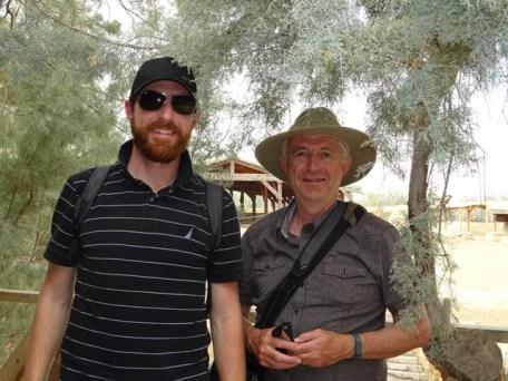 Baptism Site - Keith & Rob enjoying some shade