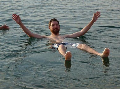 The Dead Sea - look ma, no hands!