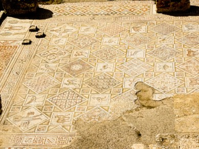Jerash - mosaic floor in early byzantine church