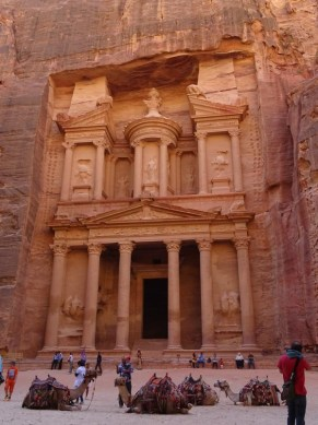 Petra - called the Treasury, this is at the entrance to Petra and it's iconic image. It was the tomb of the Nabatean King.