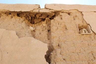 Al-Rekayat Fort - details of mud construction