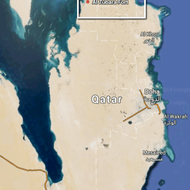 Map of Qatar showing where I went