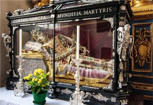 The skeleton of St Munditi