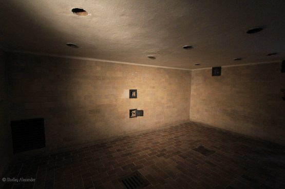 The gas chamber, designed to look like a shower room.