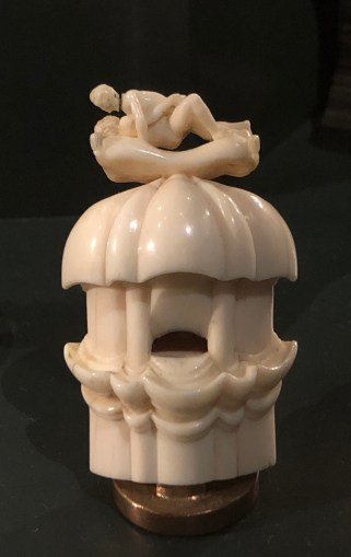 """Some of the ivory was frankly pornographic, even by today's standards. This was the mildest. Described as """"Shepherd's pipe with amorous couple."""""""
