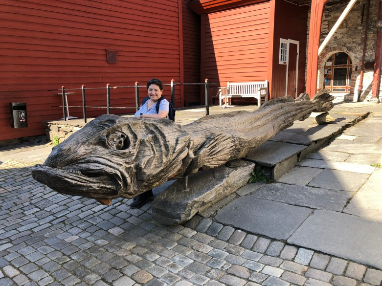 And for good measure, a giant wooden dried cod.