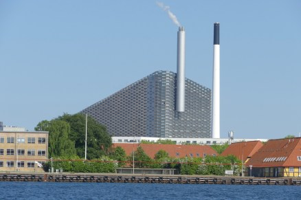 This incinerator burns trash to create energy. They actually import trash from other countries to keep it fed.