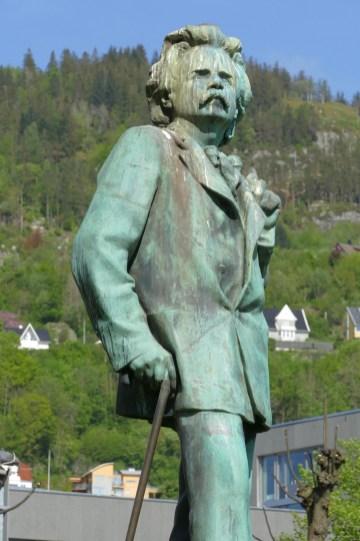 Edvard Grieg, another of Bergen's famous citizens
