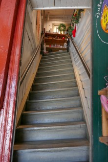 This photo is not distorted, the staircase is!