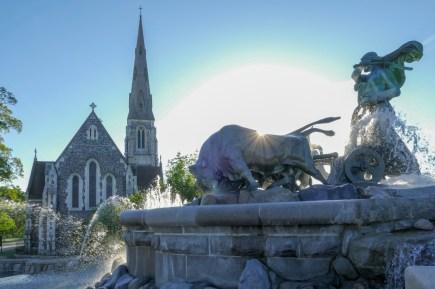 The English Church & Gefion Fountain