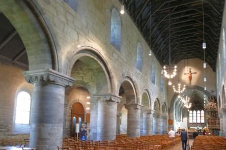 The Romanesque interior