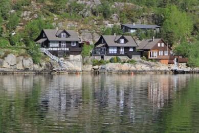 We passed lots of Norwegian summer houses