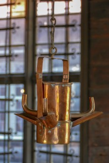 A lamp which used cod liver oil.