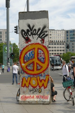 A remnant of the Berlin Wall