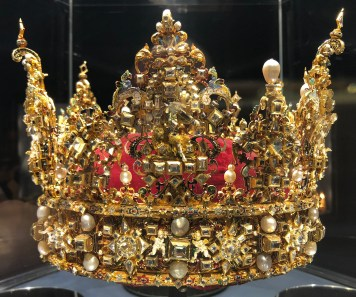 Incredibly ornate and expensive crown - one of many on display.