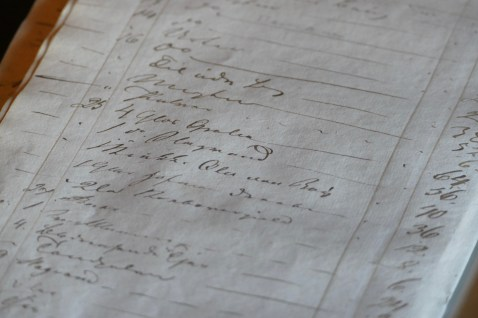 A ledger recording the details of trading