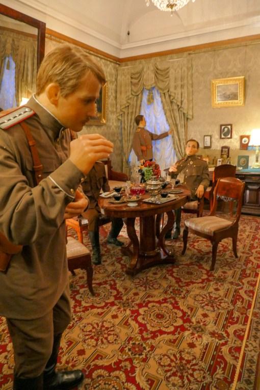 Waxwork depiction of planning to kill Rasputin