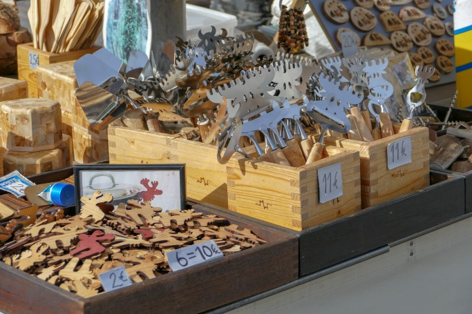 Reindeer themed souvenirs