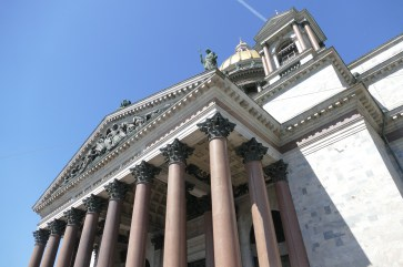 Some of the 112 granite columns and a glimpse of the golden dome