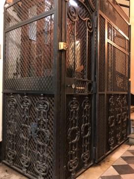 The tiny, quaint elevator.