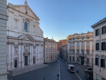 The view from our window of the Piazza del Gesu