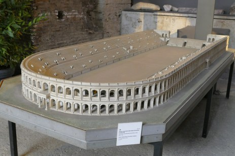 A model of the Stadium of Domitian.