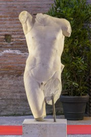 A Roman copy of a Greek statue attributed to the sculptor Praxiteles.
