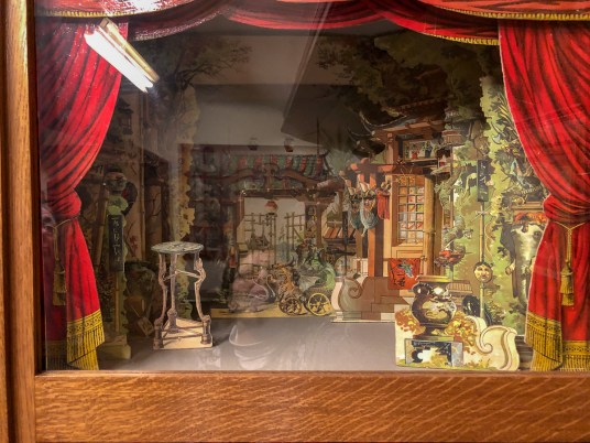 There's a collection of models of stage sets from the 19th century
