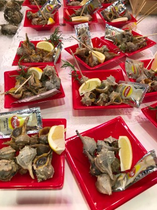 Sea snails, ready to eat.