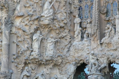 La Sagrada Familia - detail from the Nativity Facade