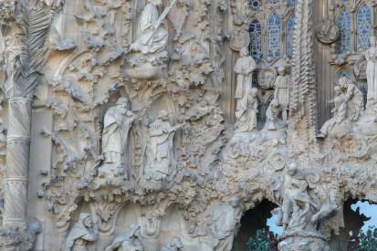 La Sagrada Familia - detail from the Nativity Facade