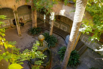 Courtyard of the old archdeacon's residence of Barcelona cathedral, now houses the city archives.