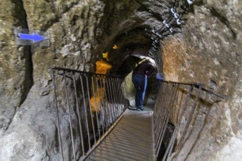 Not a good photo, but it shows how we had to walk doubled over through some of the tunnels.