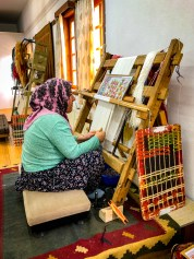 We watched a talented lady creating a silk carpet